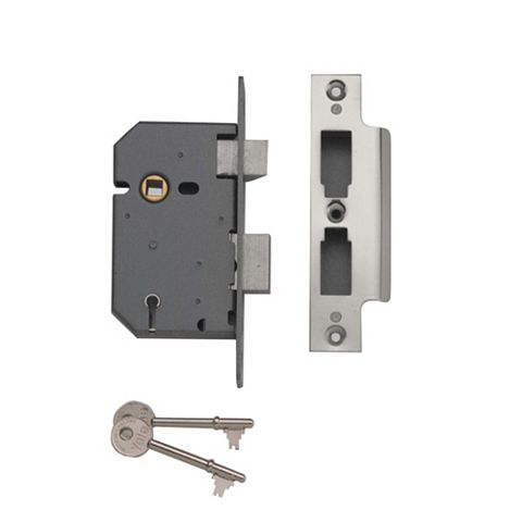 Yale 76mm Chrome Effect 5 Lever Mortice Lock