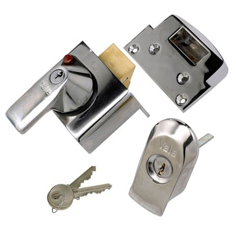 Yale 40mm Chrome Effect Night Latch P-BS2-CH-CH-40