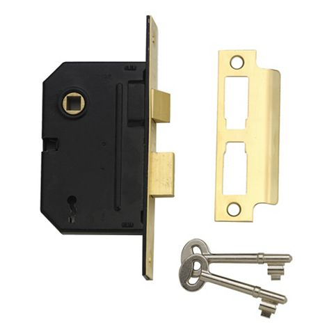 Yale 76mm Chrome Effect 3 Lever Mortice Sashlock