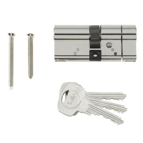 Yale 70mm Nickel-Plated Euro Cylinder Lock