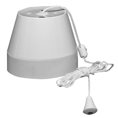 Crabtree 50A 1-Way White Ceiling Pull Switch