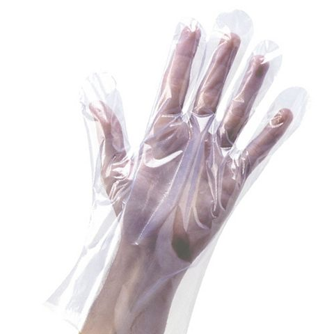 Polythene Disposable Gloves, Pack of 100 Gloves