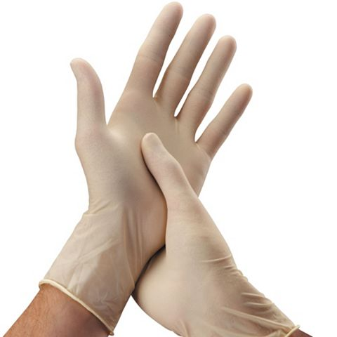 Latex Disposable Gloves, Pack of 100 Gloves