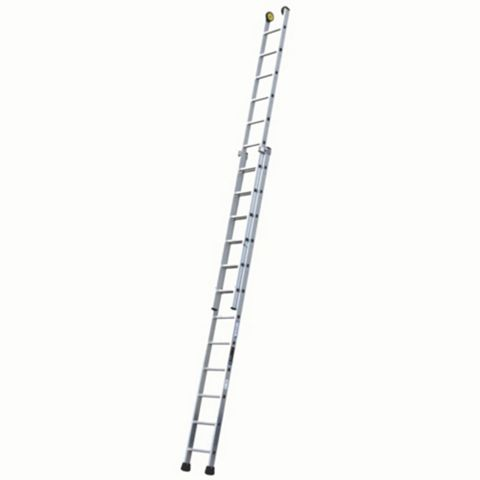 Werner Aluminium & Plastic-Way Industrial Extension Ladder, (H)6.31M