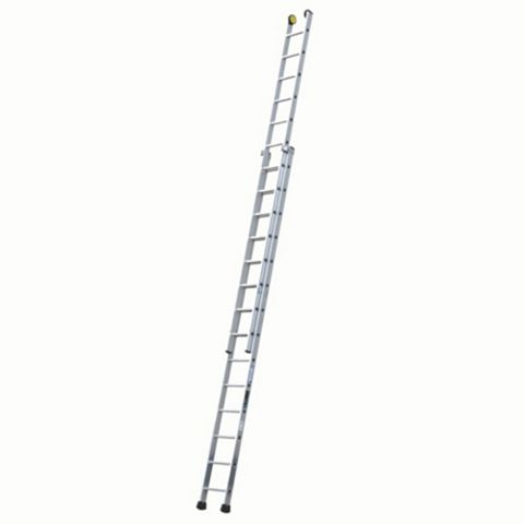 Werner Aluminium & Plastic-Way Industrial Extension Ladder, (H)7.47M