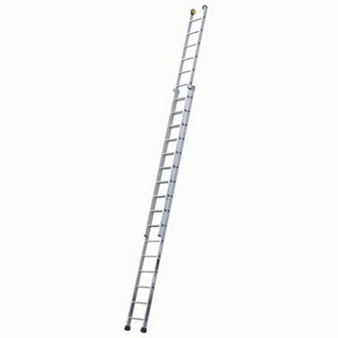 Werner Aluminium & Plastic-Way Industrial Extension Ladder, (H)8.63M
