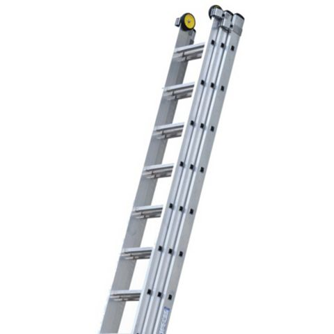 Werner Aluminium Alloy-Way Industrial Extension Ladder, (H)5.73M