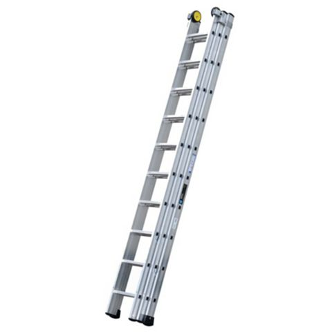 Werner Aluminium Alloy-Way Industrial Extension Ladder, (H)7.47M