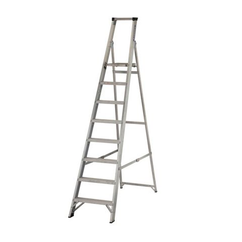 Werner 8 Tread Aluminium Platform Stepladder, 2300mm
