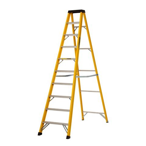 Werner 10 Tread Fibreglass Step Ladder, 3.03m