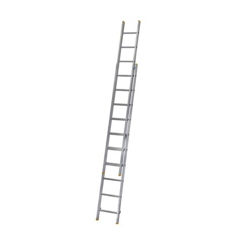 Werner Aluminium & Plastic-Way Trade Extension Ladder, (H)4.91M