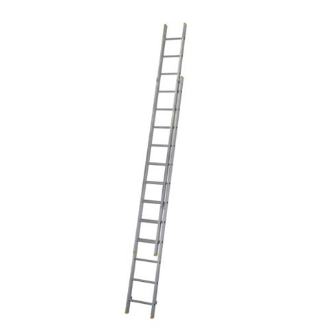 Werner Aluminium & Plastic-Way Trade Extension Ladder, (H)6.03M