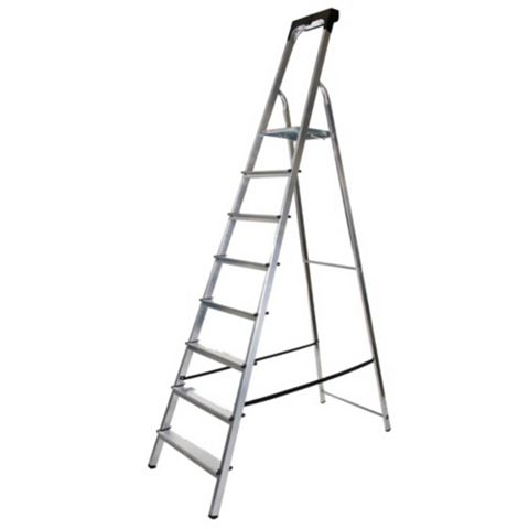 Werner 8 Tread Aluminium Platform Stepladder, 2360mm