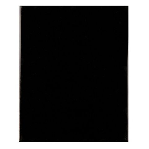 Designer Black Ceramic Wall Tile, Pack of 8, (L)300mm (W)400mm
