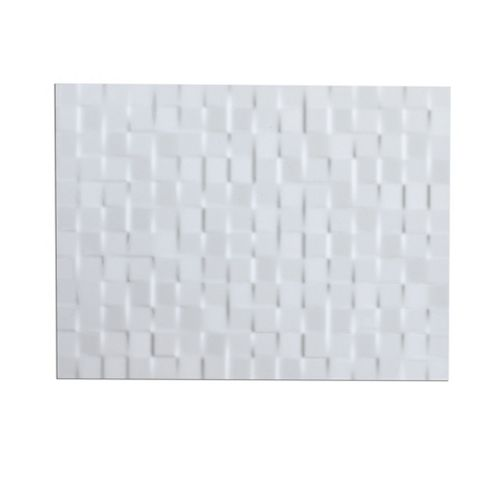 Designer White Ceramic Wall Tile, Pack of 8, (L)300mm (W)400mm