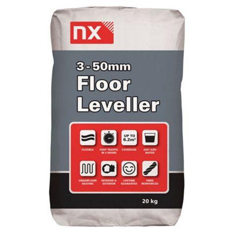 Nx Cement Powder, Polymer & Fibres Floor Leveller, 20kg Bag