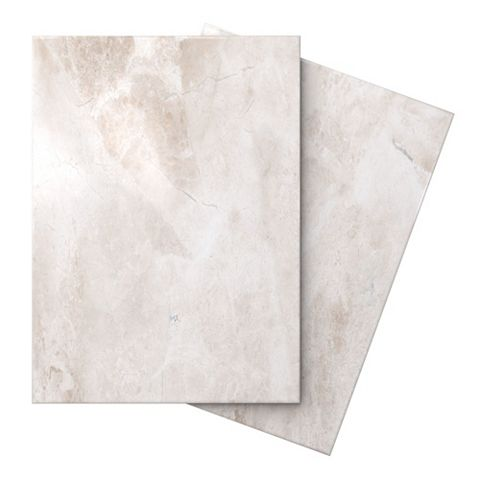 Illusion Cappuccino Marble Effect Ceramic Wall & Floor Tile, Pack of 10, (L)360mm (W)275mm