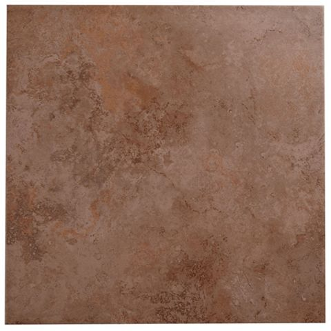 Castle Travertine Chocolate Ceramic Wall & Floor Tile, Pack of 5, (L)450mm (W)450mm