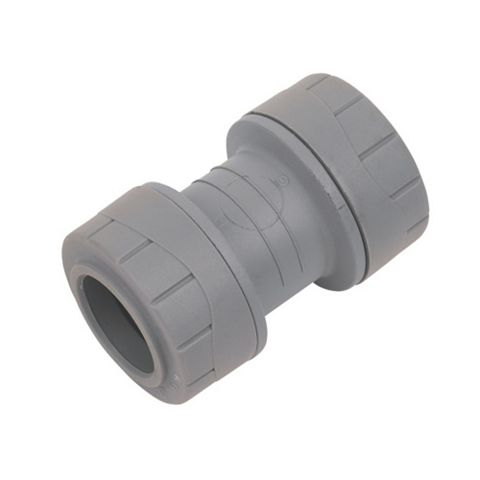 Polyplumb Push Fit Straight Coupler (Dia)22 mm