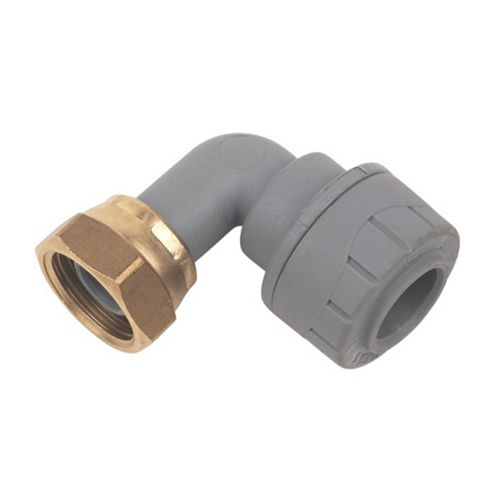 Polyplumb Push Fit Tap Connector Elbow (Dia)15 mm