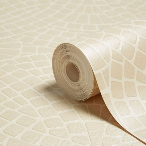 Ceramica Cream Mosaic Wallpaper