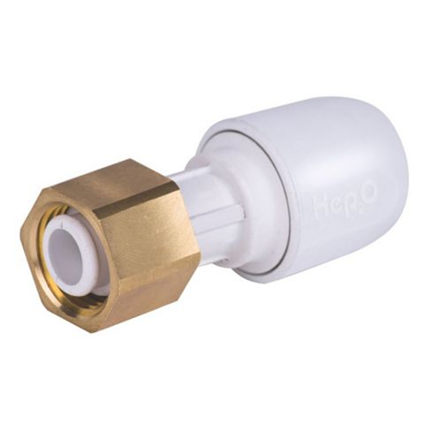 Hep2O Push Fit Straight Tap Connector (Dia)22 mm