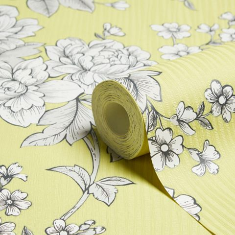 Superfresco Easy Chartreuse Floral Wallpaper