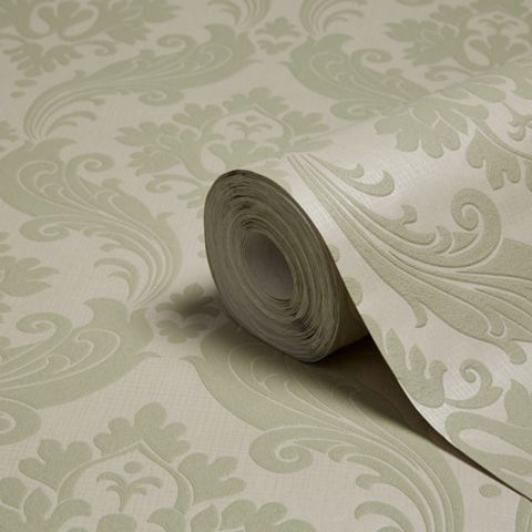 Kelly Hoppen Moss Damask Wallpaper