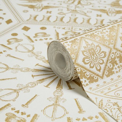 Marcel Wanders Gold & White Floral Wallpaper