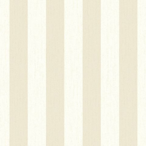 Julien Macdonald Glitterati Cream & Gold Stripe Vinyl Effect Wallpaper