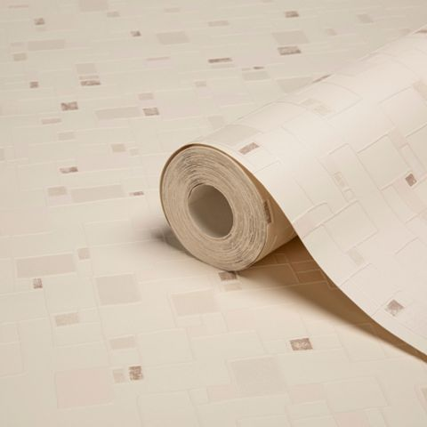 Spa Beige Tile Wallpaper