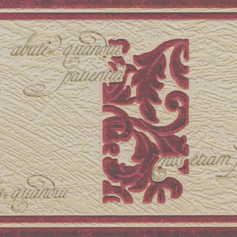 Paste The Paper Wordsworth Burgundy & Cream Border