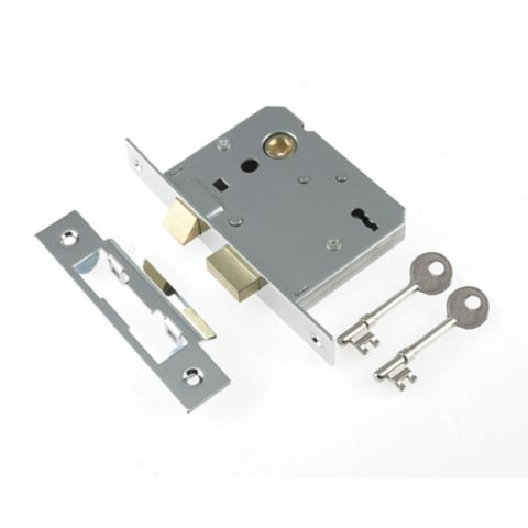 Century 55mm Chrome Plated 3 Lever Mortice Sashlock