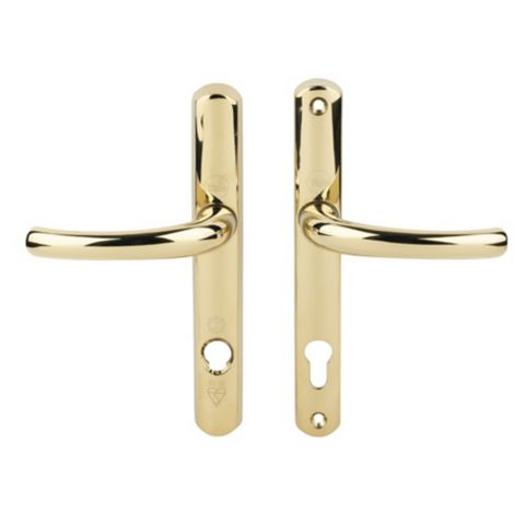 Yale Gold Effect Platinum Security Lock Door Handles Pair