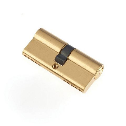 Century 70mm Brass Plated Euro Double Cylinder Lock