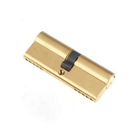 Century 80mm Brass Plated Euro Double Cylinder Lock
