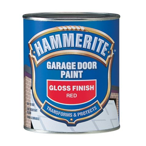 Hammerite Garage Door Paint High Sheen Gloss Red, 750ml