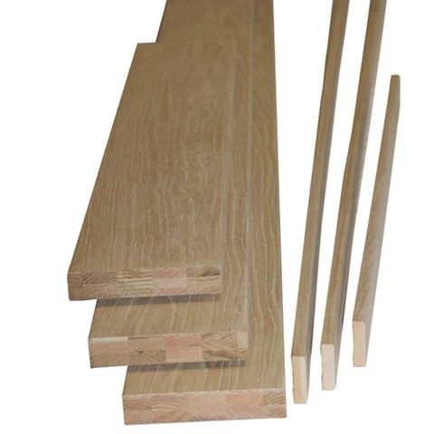 Oak Veneer Internal Door Lining Set, (H)2m (W)115mm