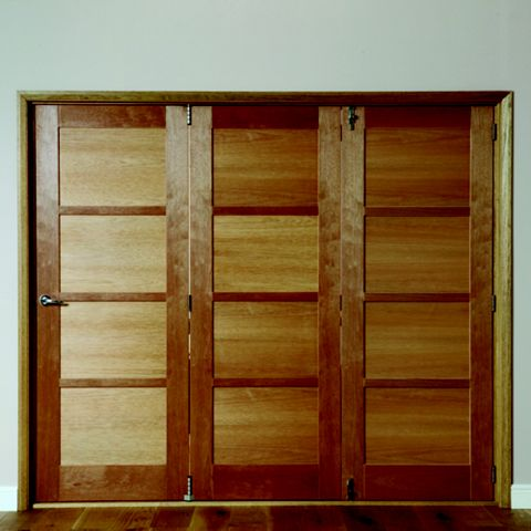 Beauly 4 Panel Hardwood Veneer Internal Folding Door RH, (H)2035mm (W)2146mm