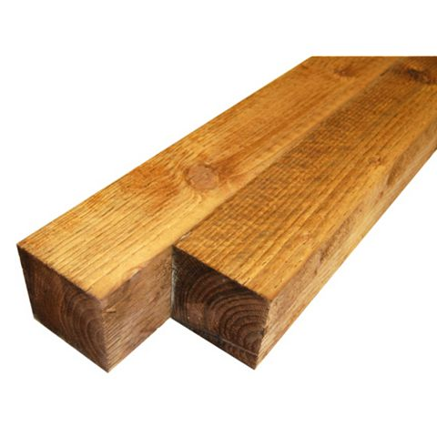 BSW Timber Fence Post, 100mm x 2.4m