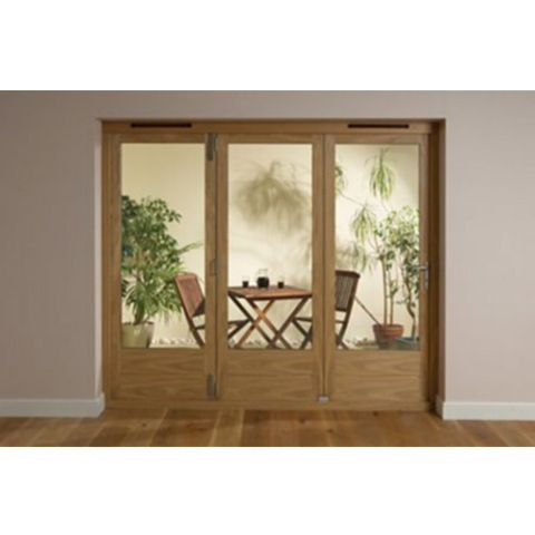 Timber Glazed Folding Patio Door, (H)2009mm (W)2390mm