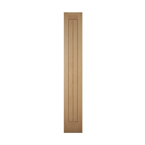 Cottage Panelled Oak Veneer Internal Unglazed Cupboard Door, (H)1981mm (W)305mm