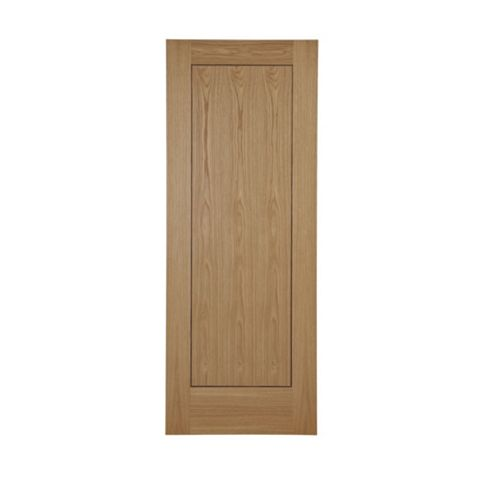 Flush 1 Panel Oak Veneer Internal Door, (H)1981mm (W)762mm