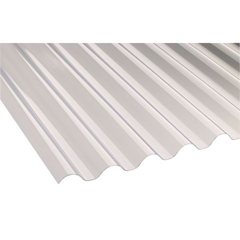 Ariel Corolux Corrugated PVC Roofing Sheet, Translucent 77/20