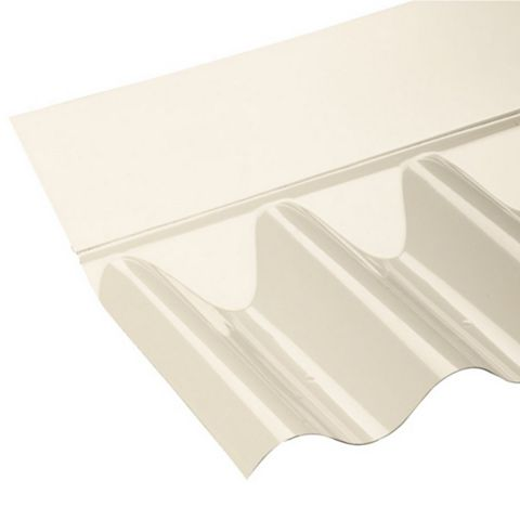Ariel Corolux Corrugated PVC Roofing Sheet Flashing, Translucent 77/20