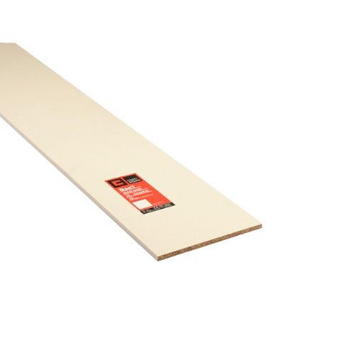 Conti MFC Furniture Panel White (L)2440mm (W)381mm (T)15mm