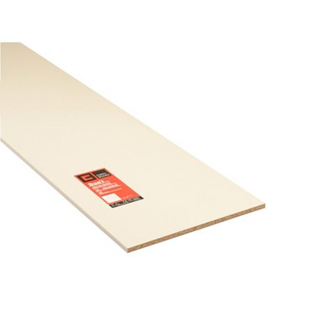 Conti MFC Furniture Panel White (L)2440mm (W)533mm (T)15mm