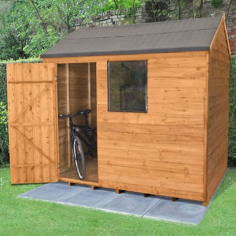Forest 8X6 Reverse Apex Overlap Wooden Shed - Assembly Required