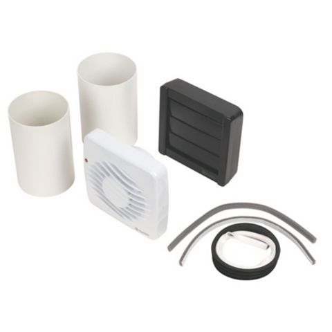 XPelair Extractor Fan, DX100HT 100mm