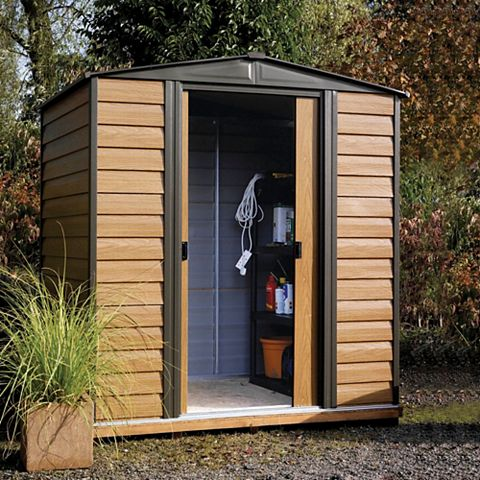 Woodvale 6X5 Apex Metal Shed - Assembly Required